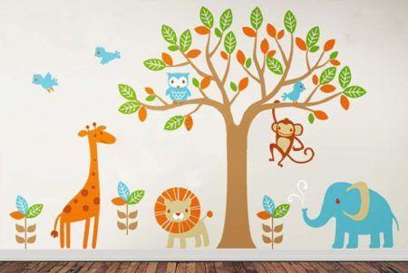 animais adesivos de parede infantil