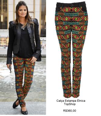 belas calças com estampa étnica