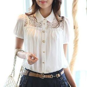 blusa de seda com renda