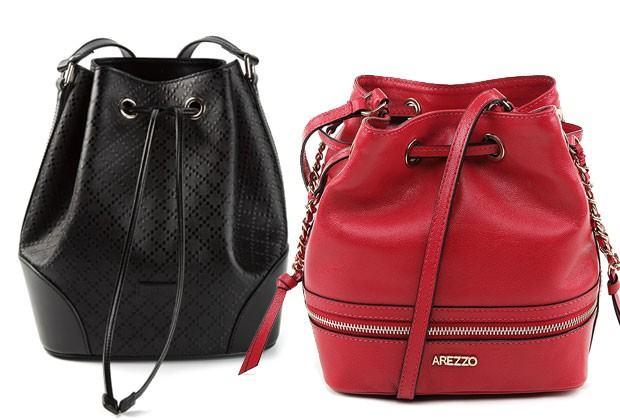 Modelos de bolsa Saco da moda (cores, e tipos de material)