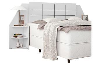 cabeceira de cama box casal com criado mudo