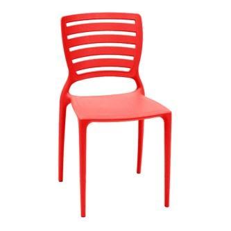 cadeiras de plástico tramontina vermelha