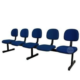 cadeiras estofadas para igreja azul