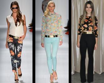 cinto de metal com calça jeans na moda
