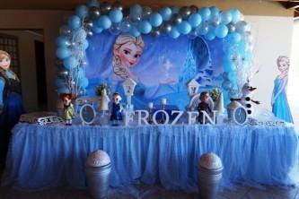 como fazer decoração aniversário infantil frozen