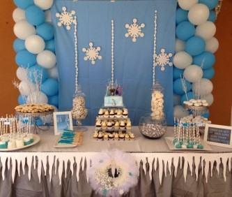 decoração aniversário infantil frozen