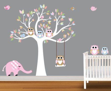 decoracao com adesivo infantil