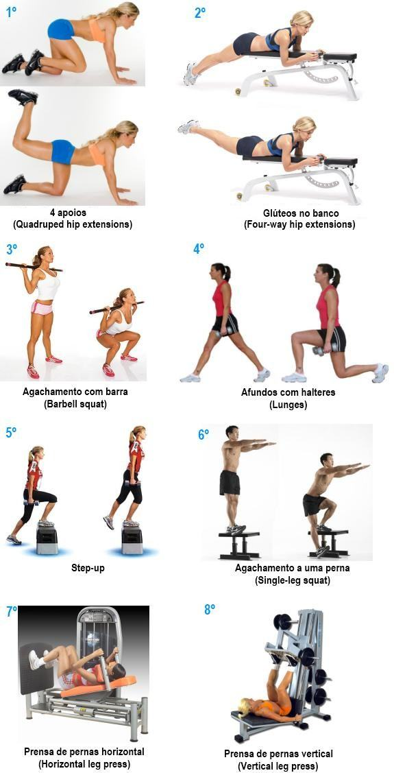 Melhores exerc cios para pernas para hipertrofia bela for Exercicio para interno de coxa