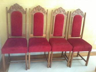 fotos de cadeiras estofadas para igreja