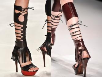 tipos de sandália gladiadora com cadarço