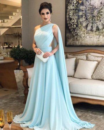 Vestido de gala longo ou curto para festas de casamento, formatura