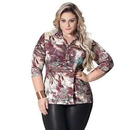 blusinhas plus size de verão -3