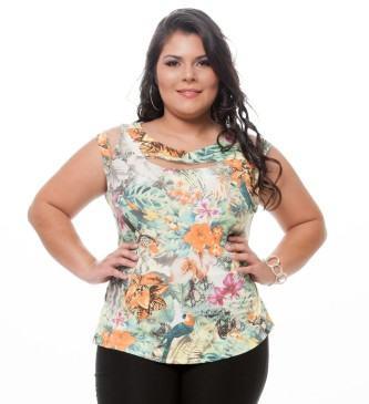 blusinhas plus size de verão