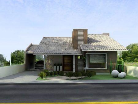 Telhado de casas bonitas tenha e fachadas v rias for Fotos de casas modernas com telhado aparente