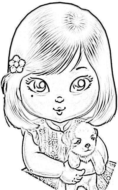 Desenhos De Bonecas Para Colorir Diversao Para Meninas Bela Feliz