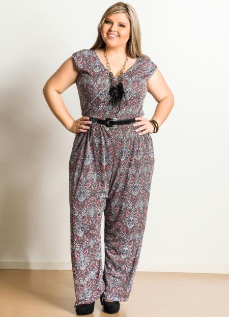 macacao plus size estampado