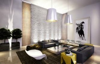 modelos de revestimento de tijolinho branco na sala