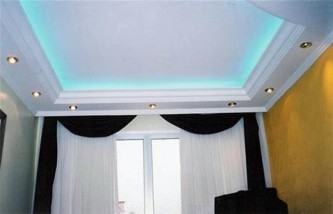 tipos de teto rebaixado com gesso e iluminação