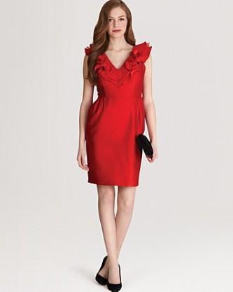 vestido tubinho de verão vermelho