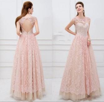 vestidos longos de baile de renda
