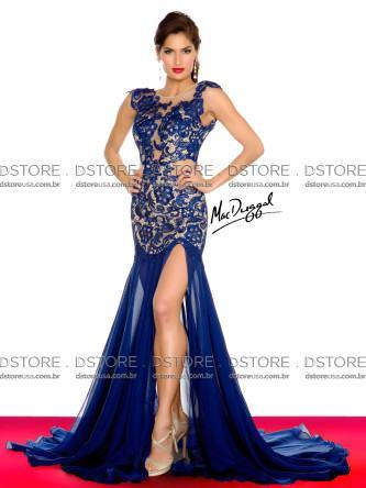 vestidos longos de renda da moda