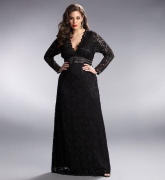 vestidos longos para gordas preto
