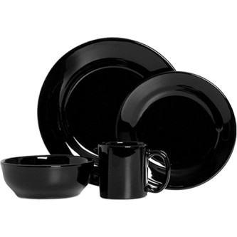 aparelho de jantar preto