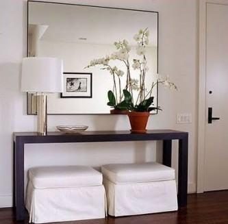 decoração de aparadores para sala com espelho