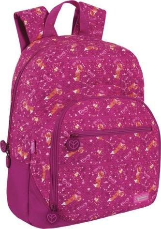 linda mochila escolar de costas