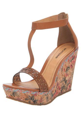 linda sandália plataforma bottero
