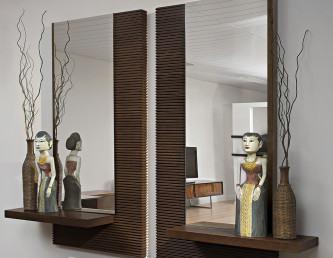 lindos aparadores para sala com espelho