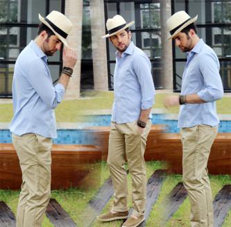 modernos chapéu panamá masculino