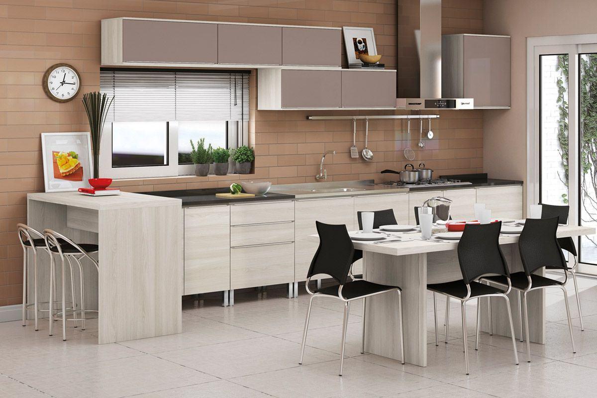 Cozinhas modernas planejadas para seu lar