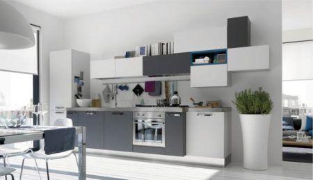cozinhas modernas preto e branco