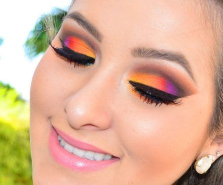 maquiagem colorida para festa de casamento