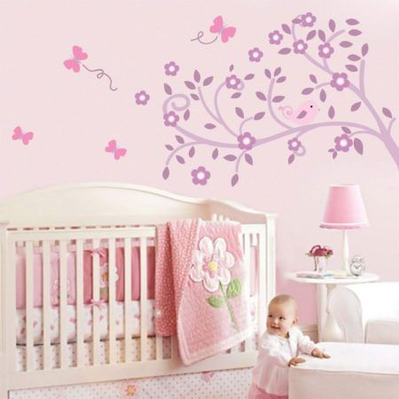 adesivo para quarto de bebe feminino