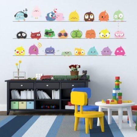 adesivos coloridos para quarto de bebe menino