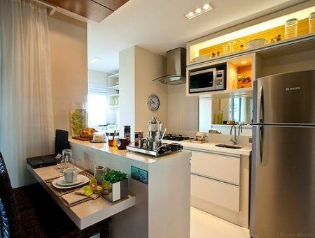 cozinha pequena com ilha