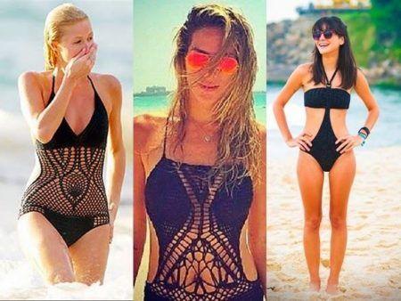 moda praia maiô croche