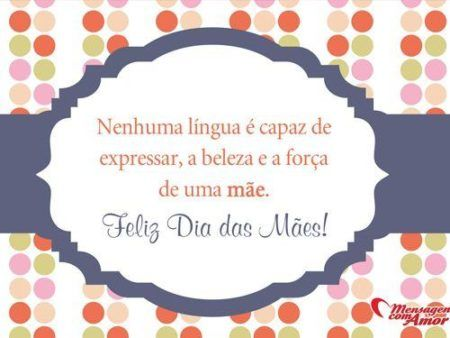 cartão para o dia das mães com frase bonita