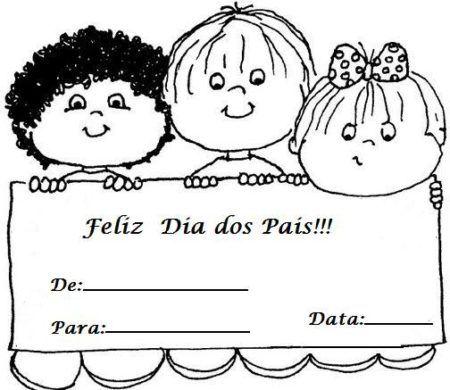 Cartao Para Dia Dos Pais Com Mensagens E Frases Bela Feliz