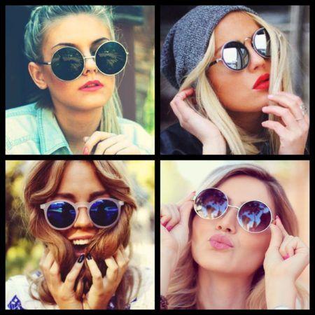 lindos modelos de oculos de sol femininos redondos