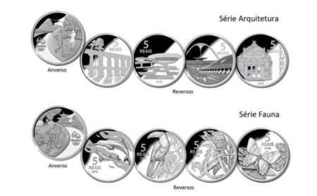 moedas de 5 reais que serão lançadas