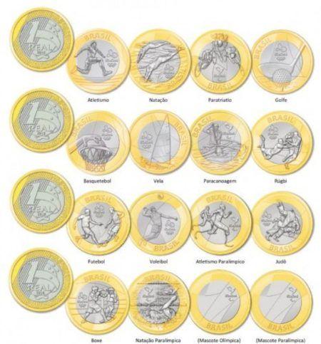 moedas lancas nas olimpiadas