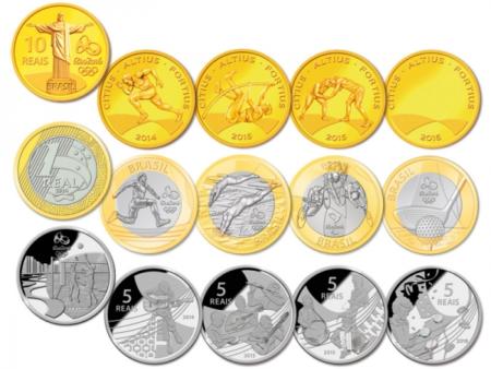nova serie de moedas 5 reais 1 real e 10 reais