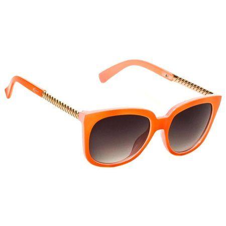oculos de sol feminino laranja com dourado