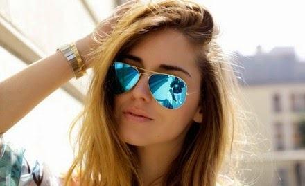 oculos de sol femininos com lentes espelhadas coloridas