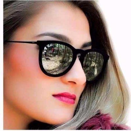oculos de sol femininos de veludo espelhado