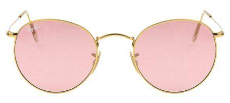 oculos de sol femininos dourado com lente rosé