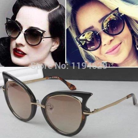 oculos de sol modelo gatinha femininos